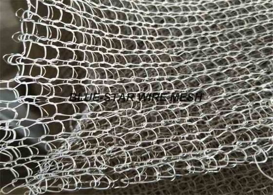 Combination Wire Mesh Rolls Double , Fiberglass Wire Mesh Screen Knitted