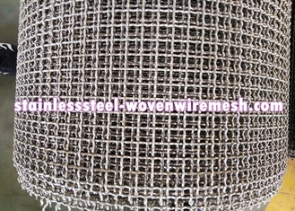 Crimped Stainless Steel Wire Mesh Plain Weave Square Aperture And Round Wire In Roll